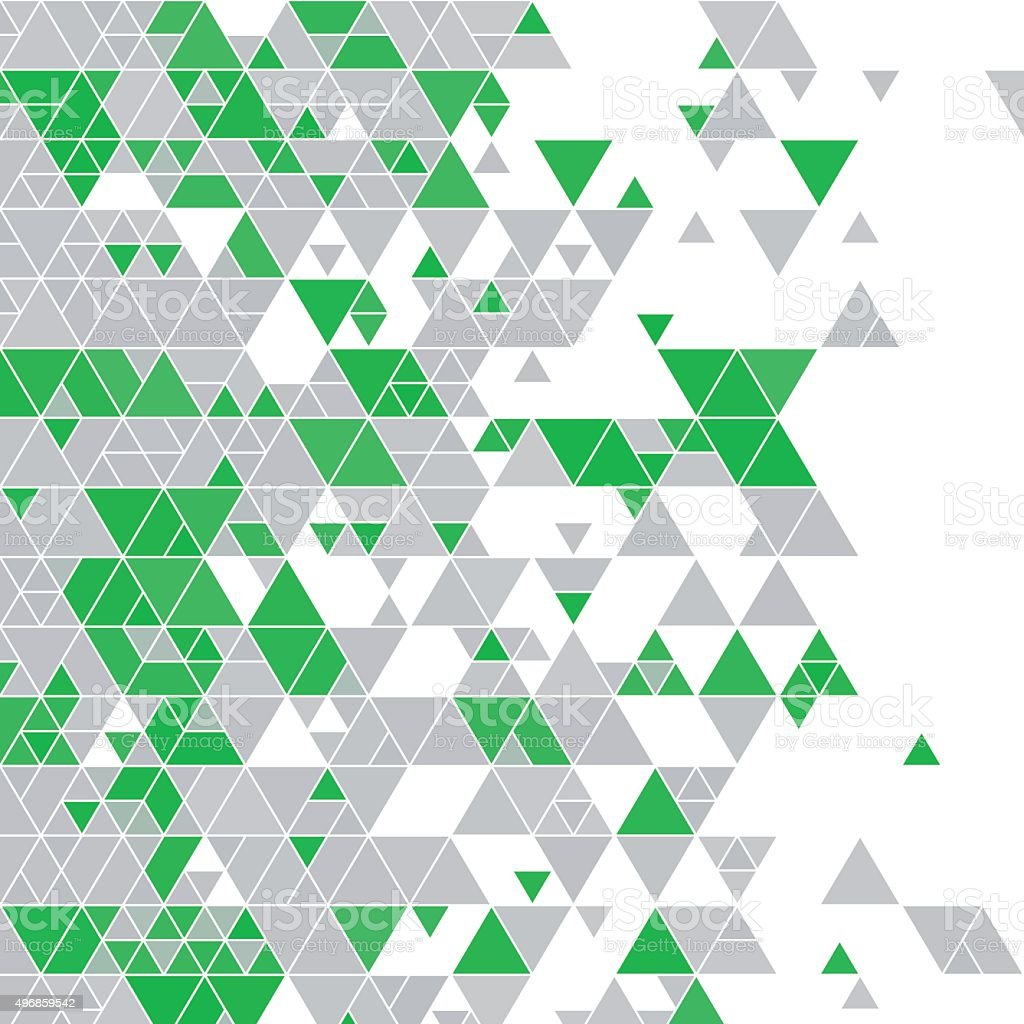 Eco Tec Triangle Design Background Square vector art illustration
