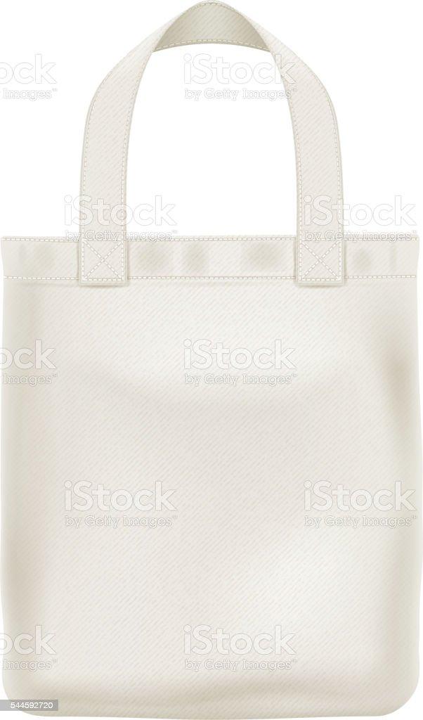 Eco textile tote bag vector illustration. vector art illustration
