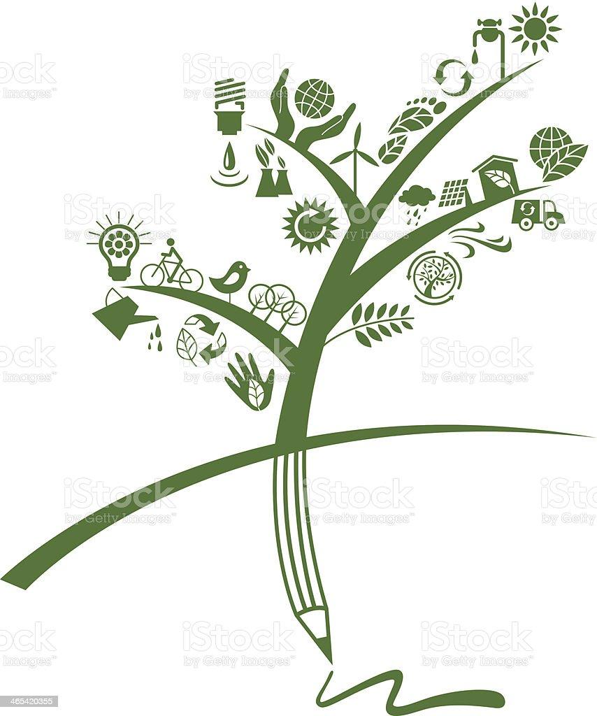 Eco tree royalty-free stock vector art