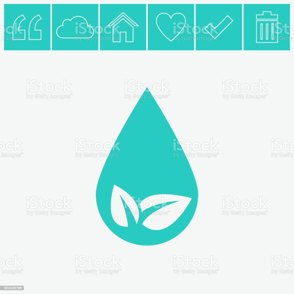 Eco water drop vector icon sprout in drop symbol ecological symbol eco water drop vector icon sprout in drop symbol ecological symbol royalty biocorpaavc Image collections