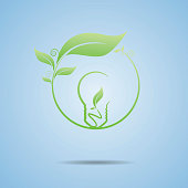 Vector Illustrator : Ecology with power idea