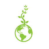 eco world concept. eps 10 vector file