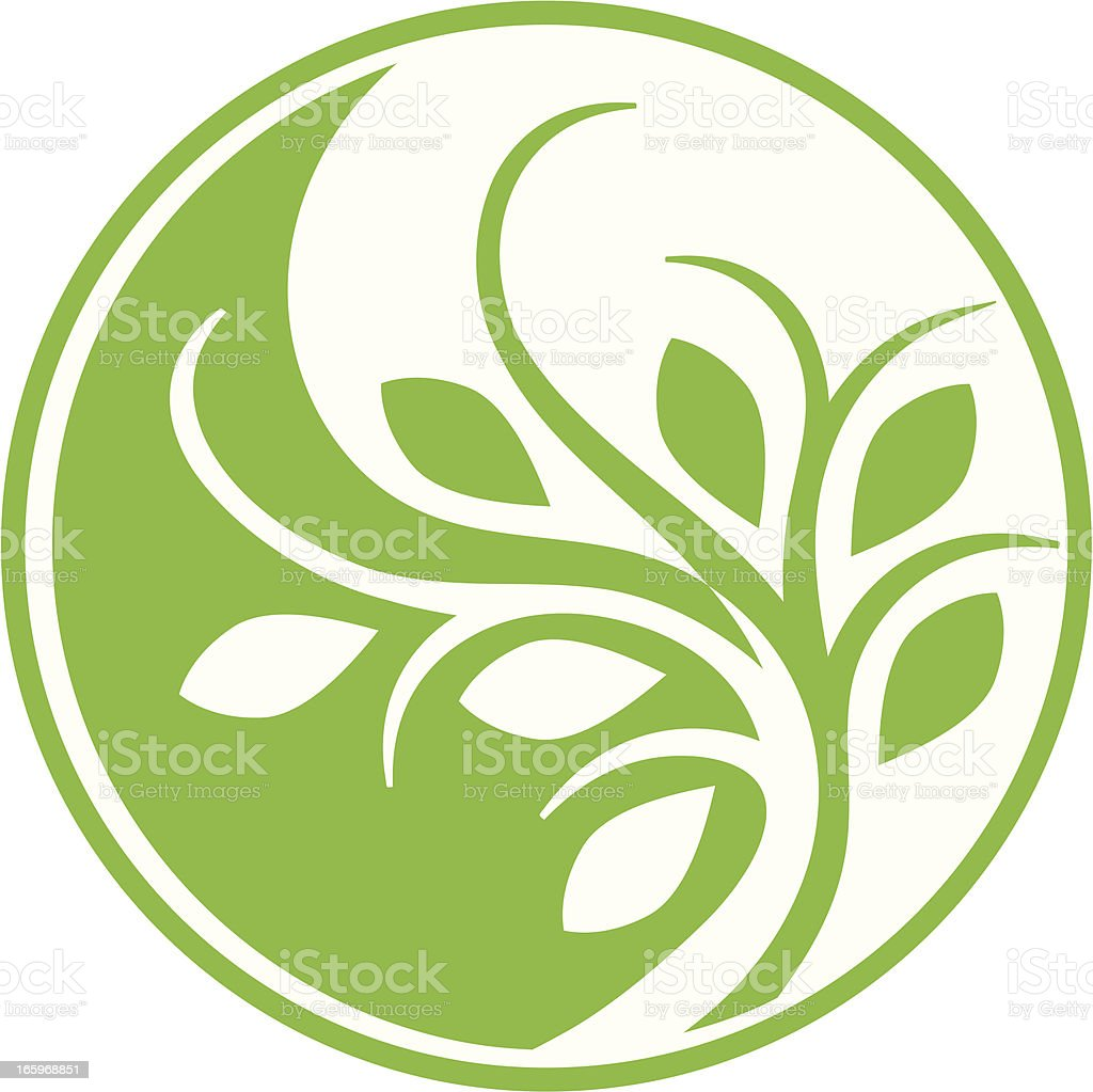 Eco Yin Yang vector art illustration