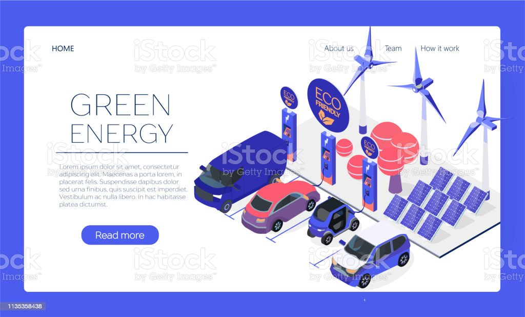 Ecofriendly Car Charging Station Web Page Concept Plugin