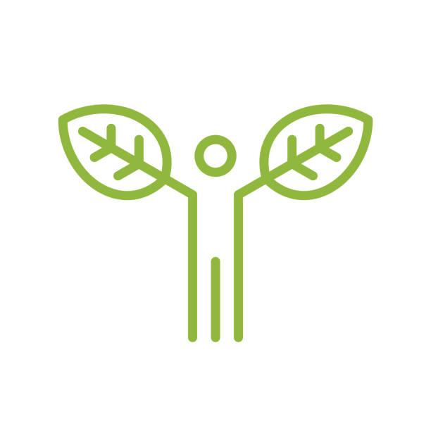 Eco-friendly concept Vector line icon. Vector EPS 10, HD JPEG 4000 x 4000 px organic farm stock illustrations