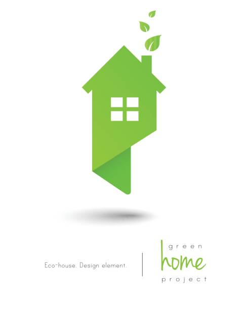 eco-friendly house - energy saving stock illustrations, clip art, cartoons, & icons