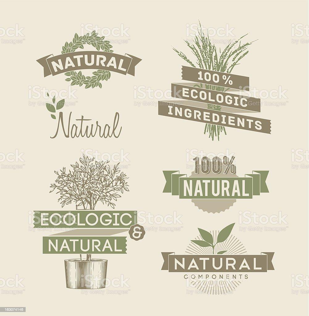 Ecologic and natural emblems royalty-free stock vector art