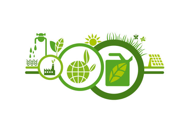 Ecologic concept 12 vector art illustration