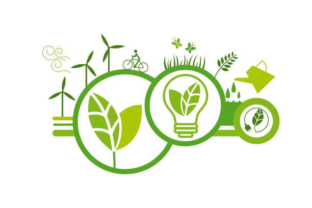 Ecologic concept 15 vector art illustration