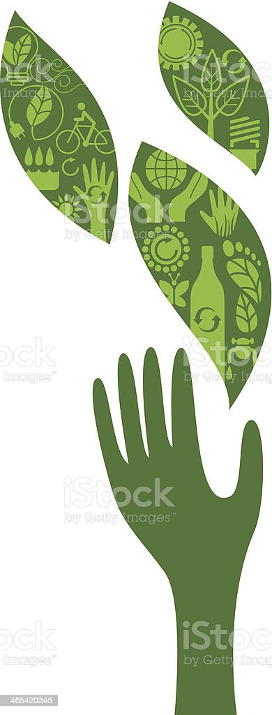 Ecologic gesture 2 royalty-free stock vector art