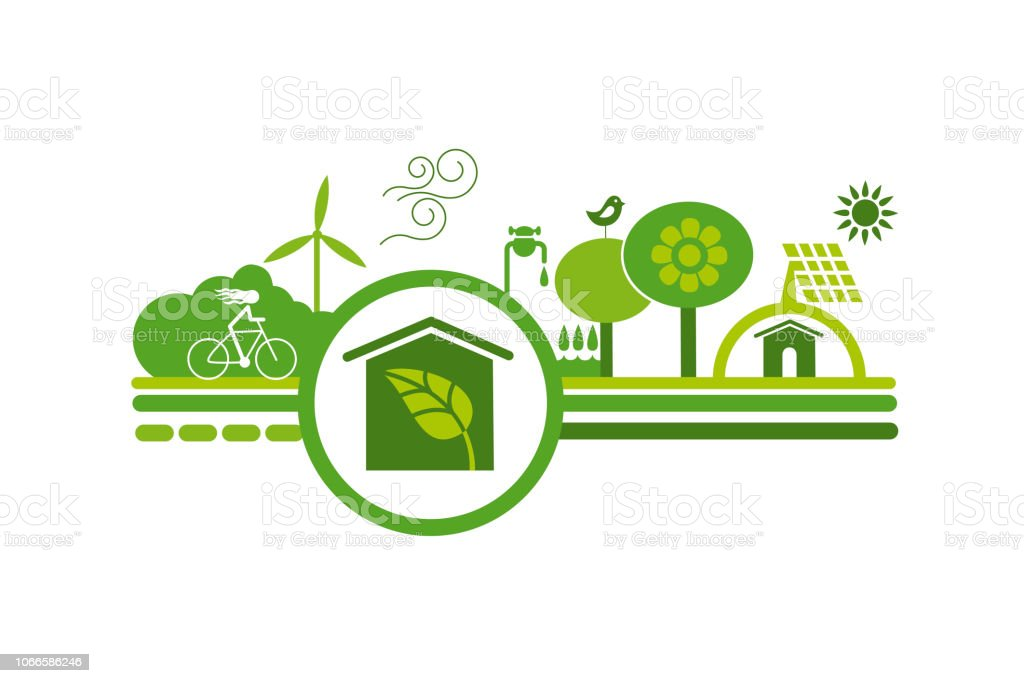Ecologic symbol 4 vector art illustration