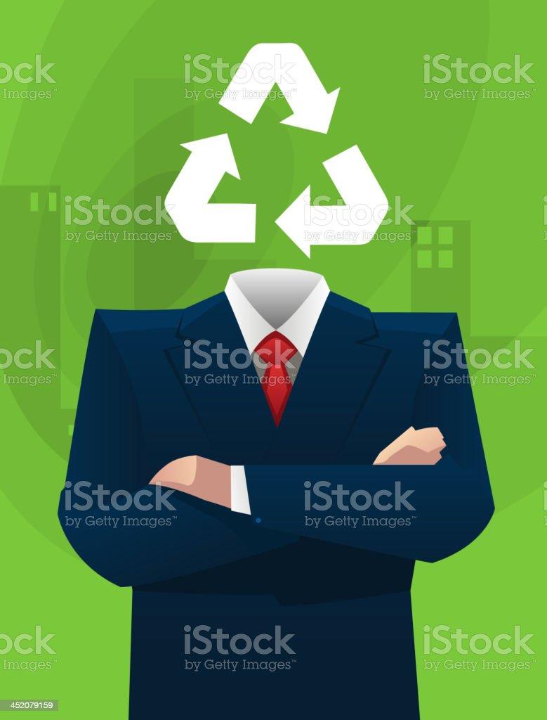 Ecological businessman ideas royalty-free stock vector art