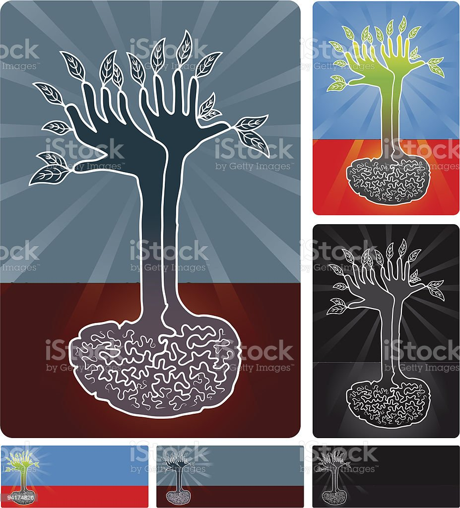 Ecological mind royalty-free stock vector art