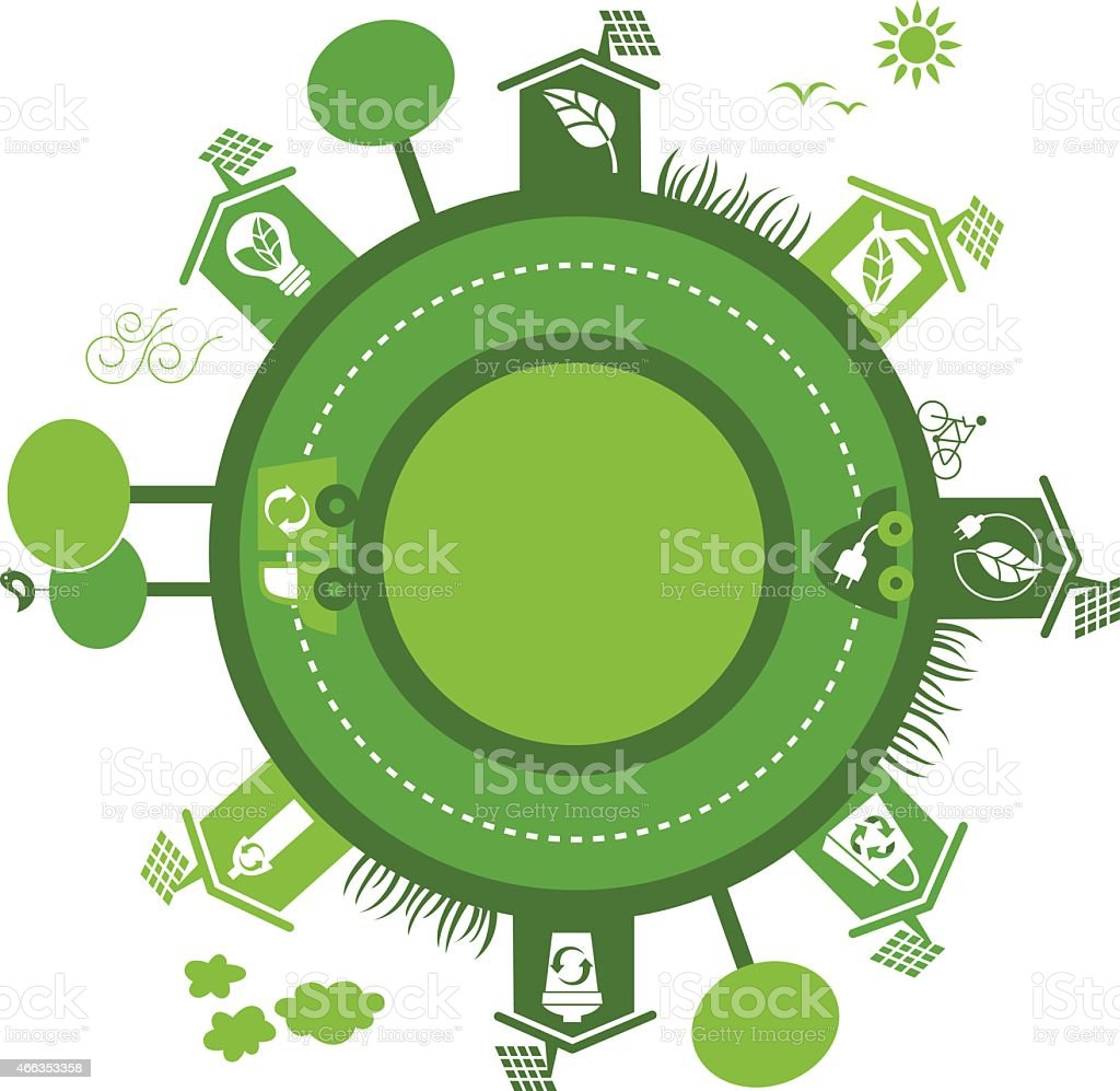 Ecological neighborhood vector art illustration
