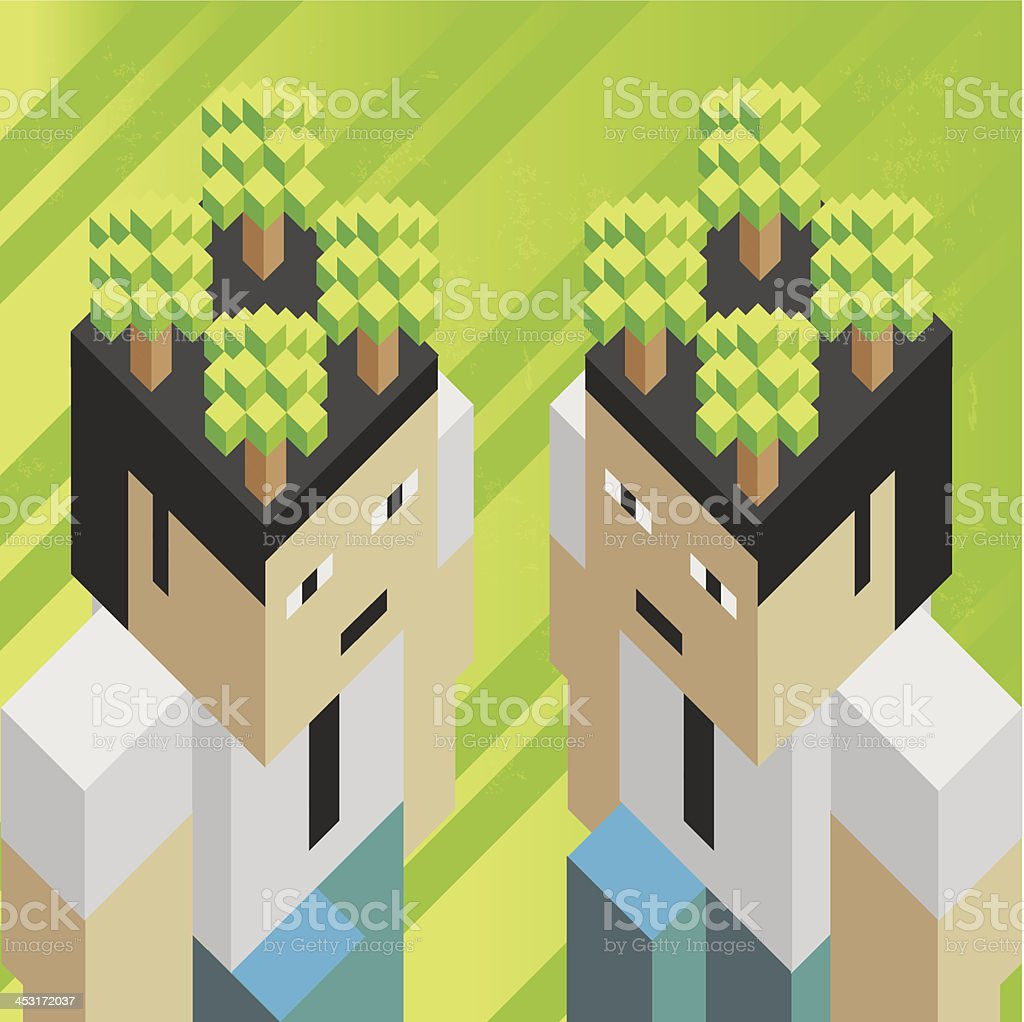 Ecological thinking royalty-free stock vector art