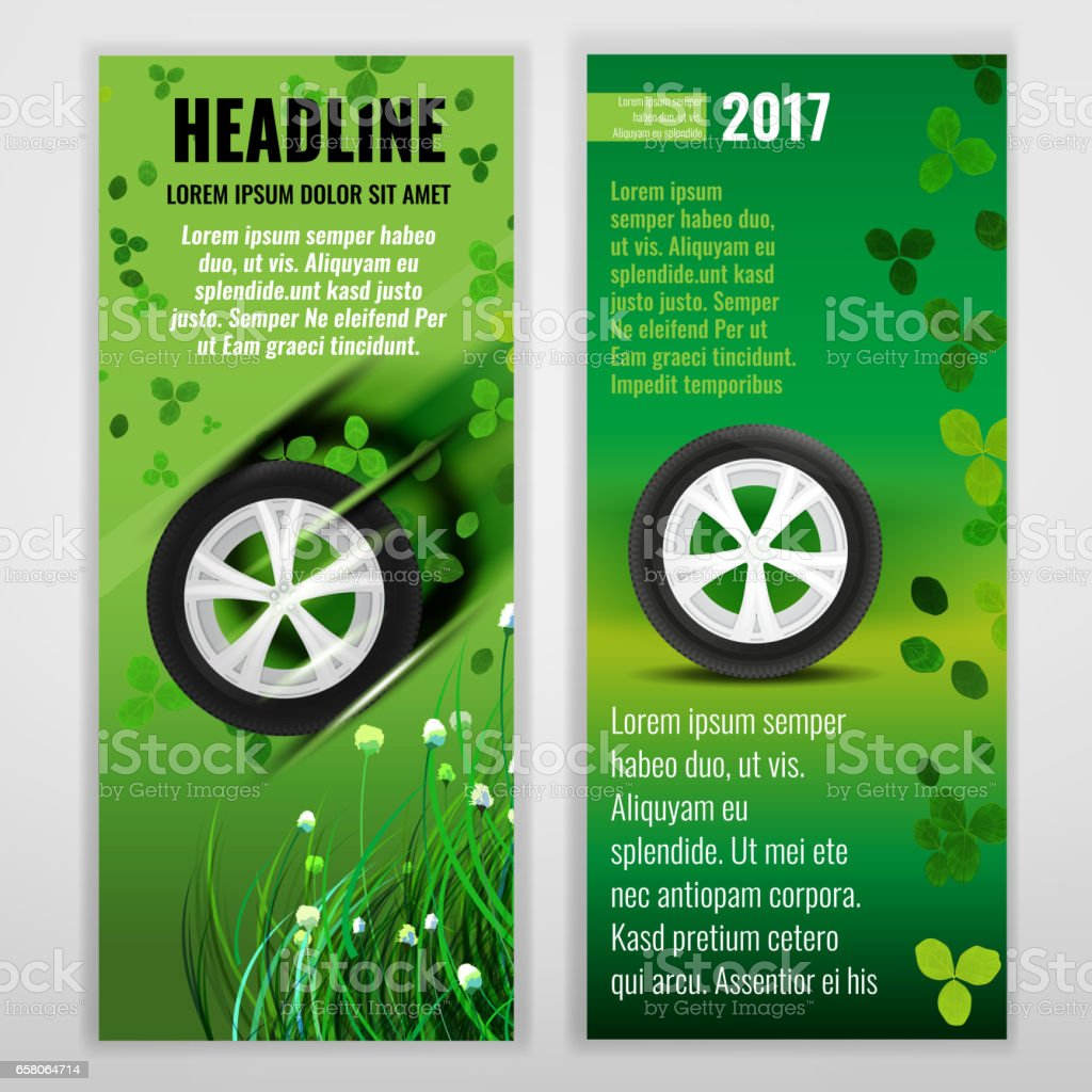 Ecological Tire banners royalty-free ecological tire banners stock vector art & more images of abstract