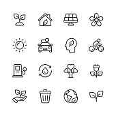 16 Ecology and Environment  Outline Icons.