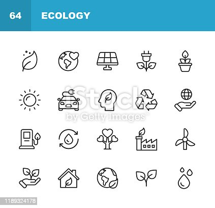 20 Ecology and Environment  Outline Icons.