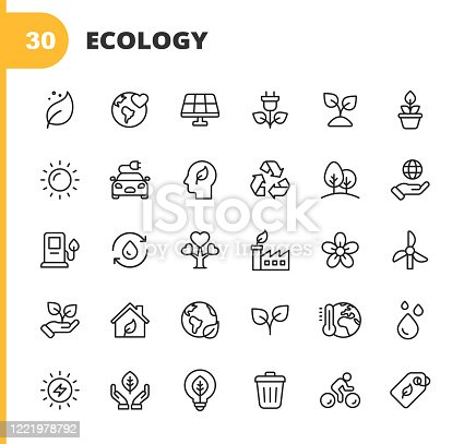 30 Ecology and Environment  Outline Icons.