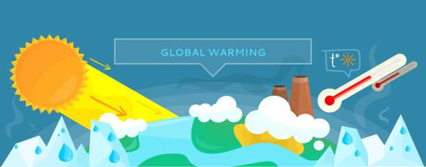 ecology banner concept global warming - ущерб окружающей среде stock illustrations