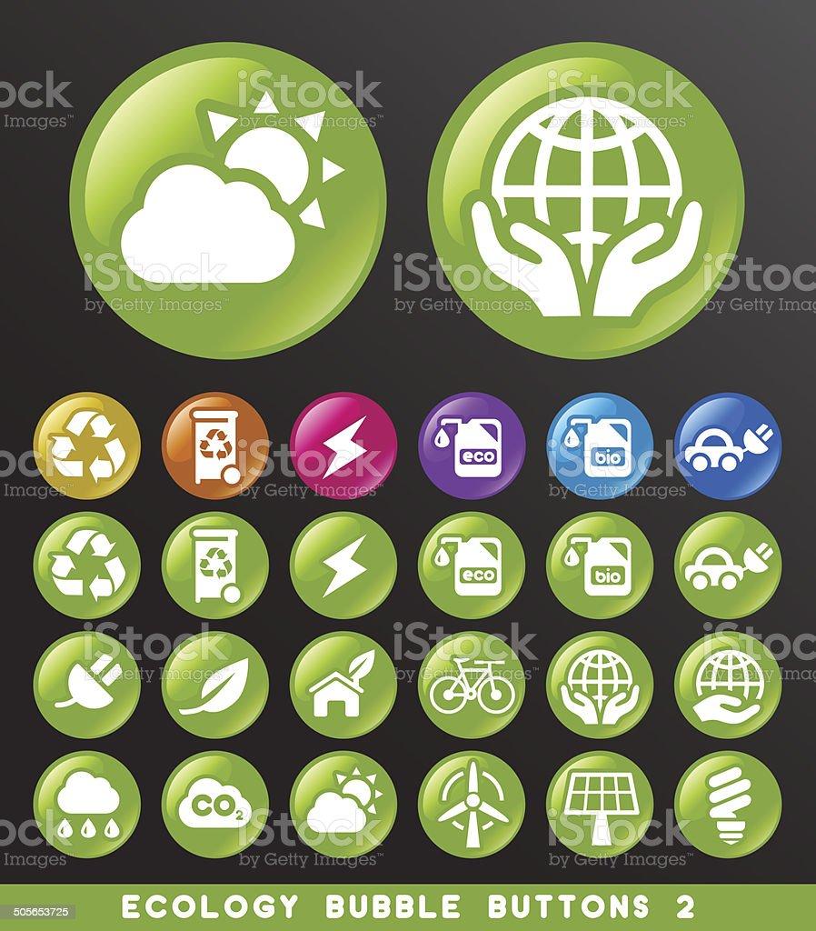 Ecology Bubble Buttons.