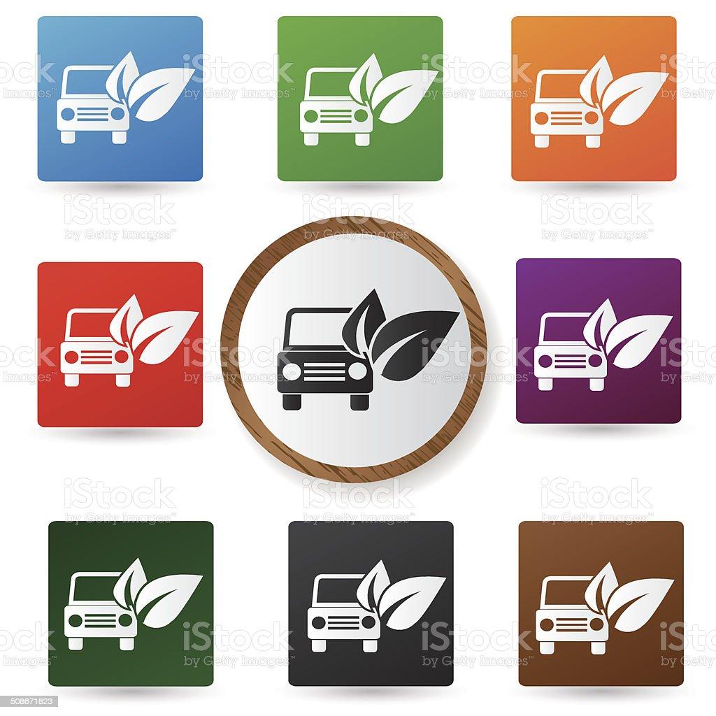 Ecology car sign,vector vector art illustration