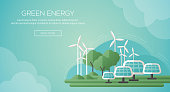 Ecology Concept Banner Template in Flat Design.