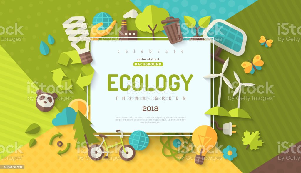 Ecology concept banner vector art illustration