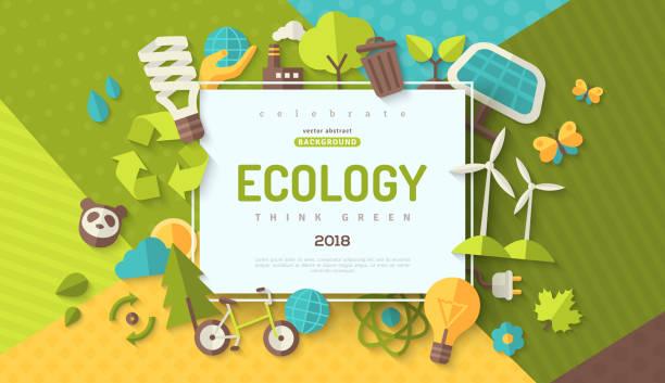 生態學概念橫幅 - 環境 幅插畫檔、美工圖案、卡通及圖標