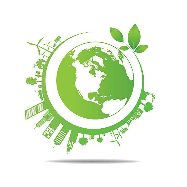 ilustrações de stock, clip art, desenhos animados e ícones de ecologia projecto gravar mundo - green world