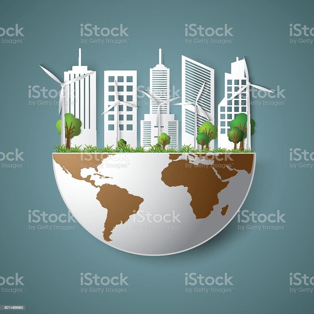 Projet écologique économisez monde projet écologique économisez monde – cliparts vectoriels et plus d'images de arbre libre de droits