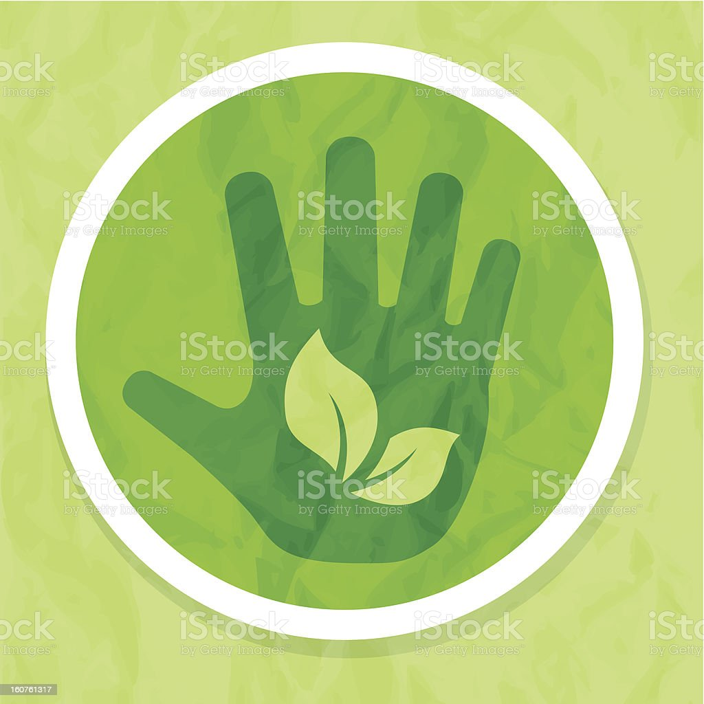 Ecology concept with human hand royalty-free ecology concept with human hand stock vector art & more images of accessibility