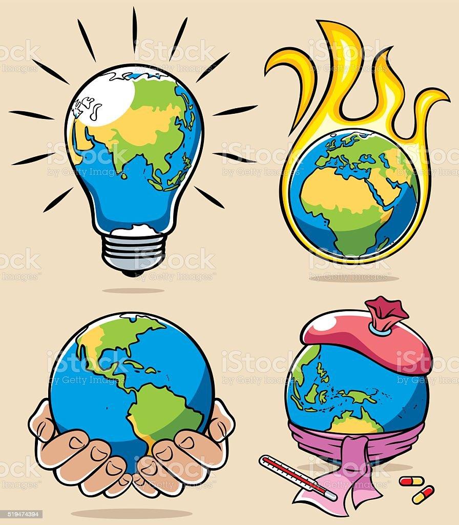 Ecology Concepts 3 vector art illustration