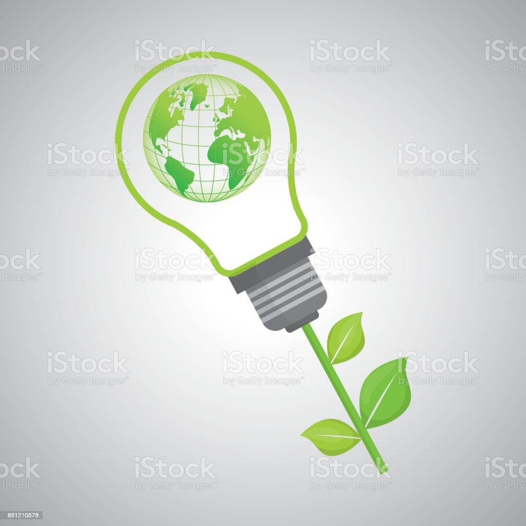 Conception de l'écologie. icône de protection.  concept vert. , vecteur illustratio - Illustration vectorielle