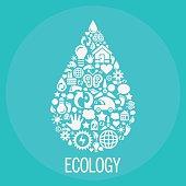 Ecology drop shape - Illustration