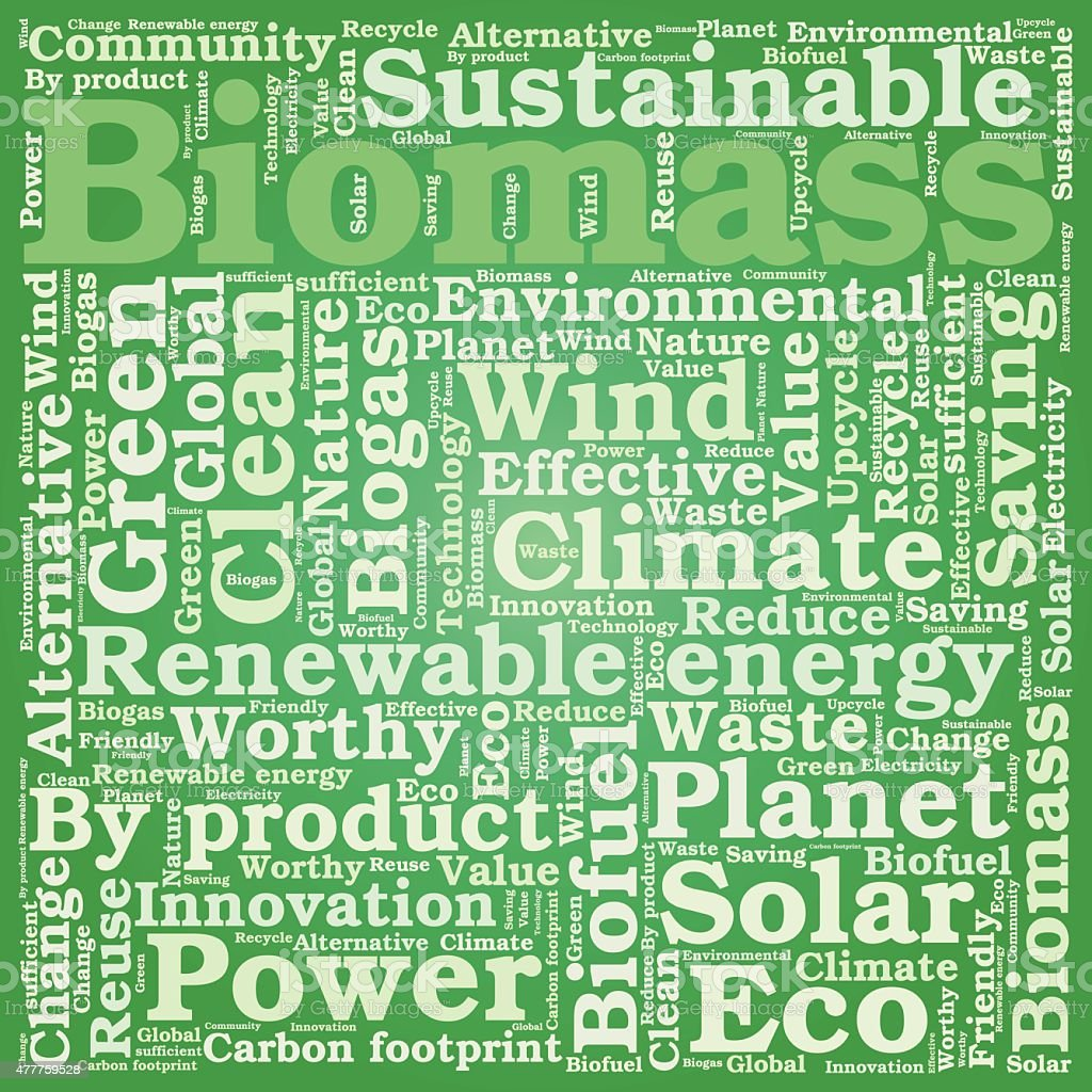 Ökologie Erde Konzept-Wort-collage – Vektorgrafik