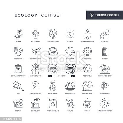 29 Ecology Icons - Editable Stroke - Easy to edit and customize - You can easily customize the stroke with