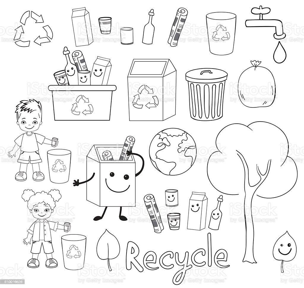 Ökologie Elemente Der Erde Tag Glückliche Kinder Feiern Sie Erde Tag ...