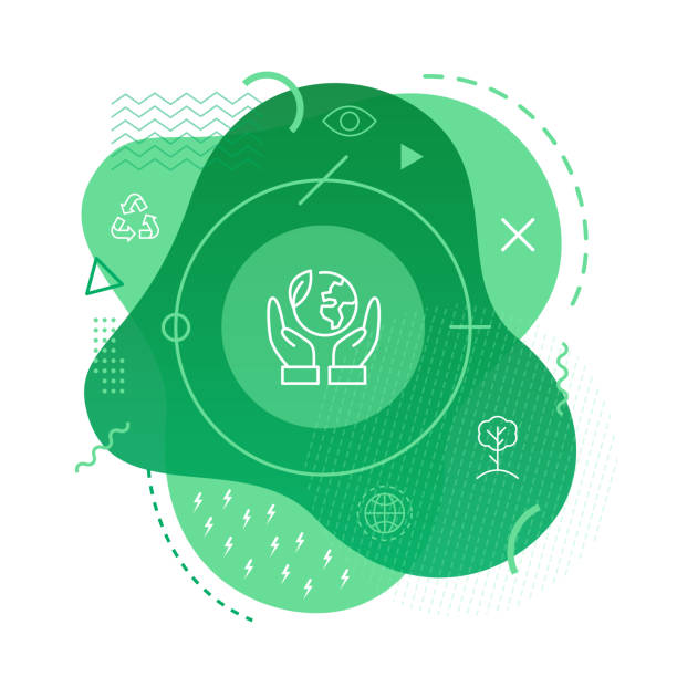 bildbanksillustrationer, clip art samt tecknat material och ikoner med ekologi ikon bakgrund - ekosystem
