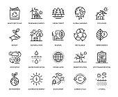 Ecology Icon Set - Thin Line Series