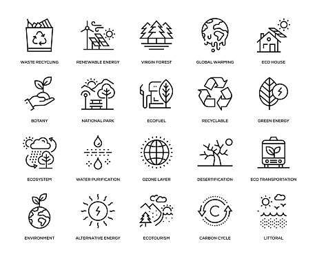 Ecology Icon Set clipart