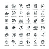 36 Ecology Icons - Line Series
