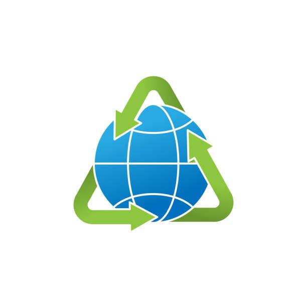 stockillustraties, clipart, cartoons en iconen met illustratie van het vectorontwerp van het pictogramvector van de ecologie. eco vriendelijk symbool pictogram teken voor logo, web, app, grafische elementen, ui. - new world