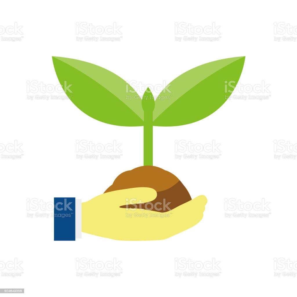 ecology icon vector art illustration
