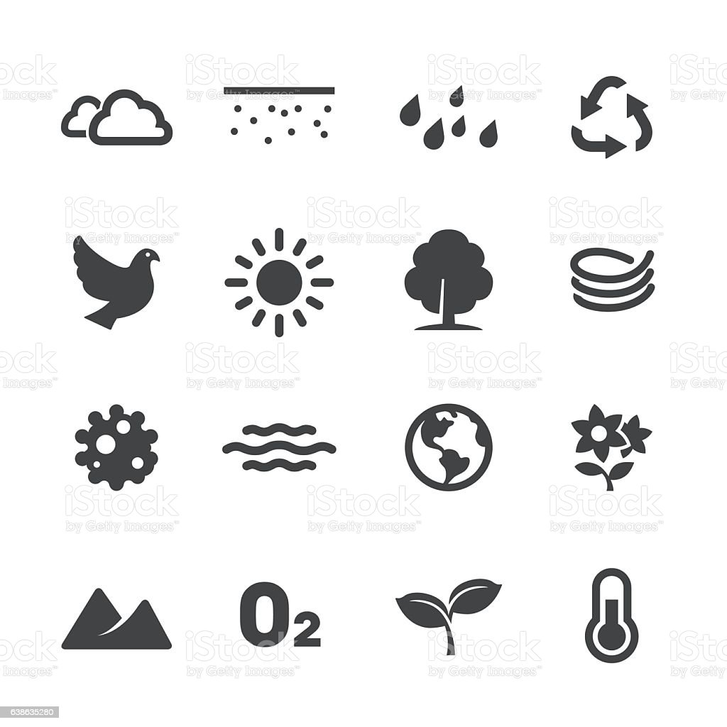 Ecology Icons - Acme Series vector art illustration