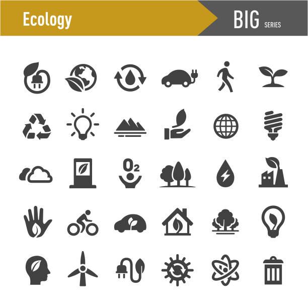 stockillustraties, clipart, cartoons en iconen met ecologie icons-grote serie - renewable energy