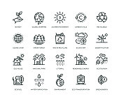 Ecology Icons - Line Series