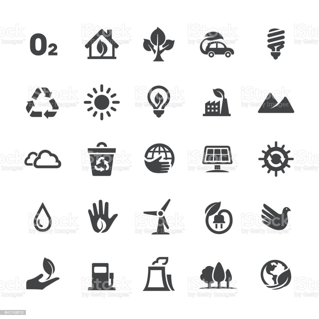 Ecology Icons - Smart Series vector art illustration