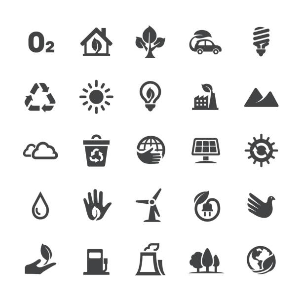Ecology Icons - Smart Series Ecology Icons energy efficient stock illustrations