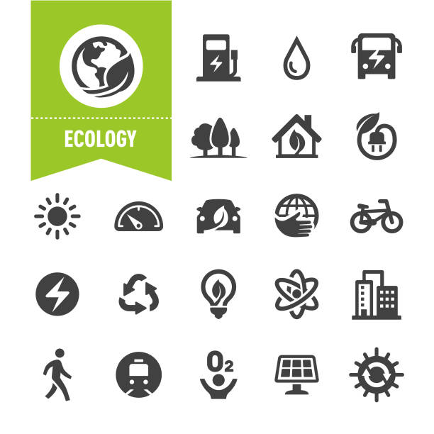 Ecology Icons - Special Series Ecology, alternative fuel vehicle stock illustrations